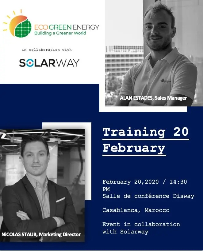 Eco Green Energy training with our distributor in Morocco