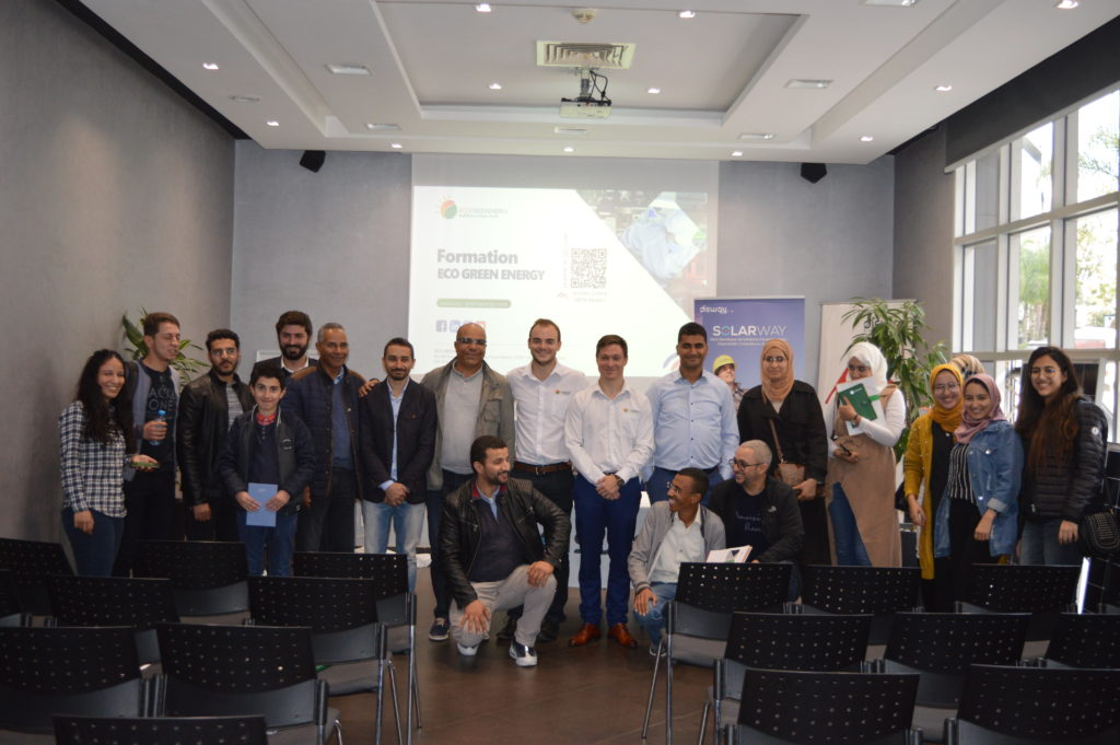 Group picture training Morocco
